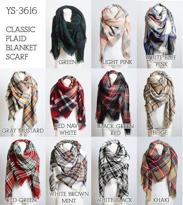 4362cc034ad Oversized blanket scarf 55in. x 55in. 100% acrylic | Scarves | Plaid ...
