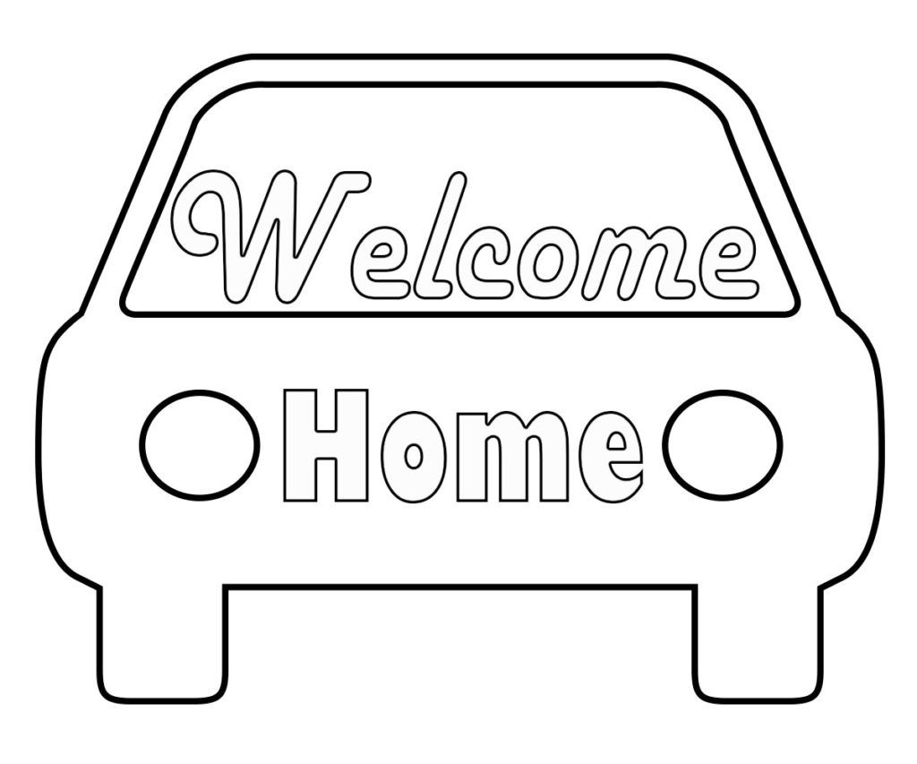 Wonderful Welcome Home Coloring Pages Coloring Pages Welcome
