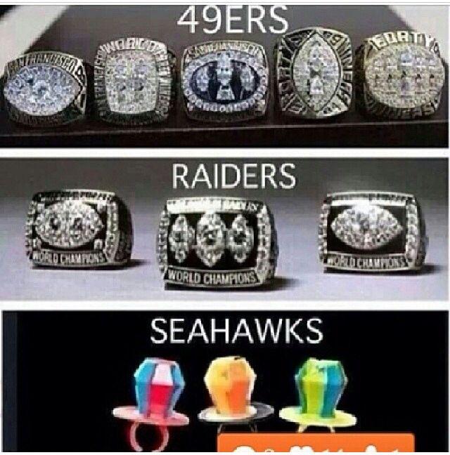 70d3764b985c9b61a4d47104ff30d6a5 nfl super bowl rings 49ers raiders seahawks suck san