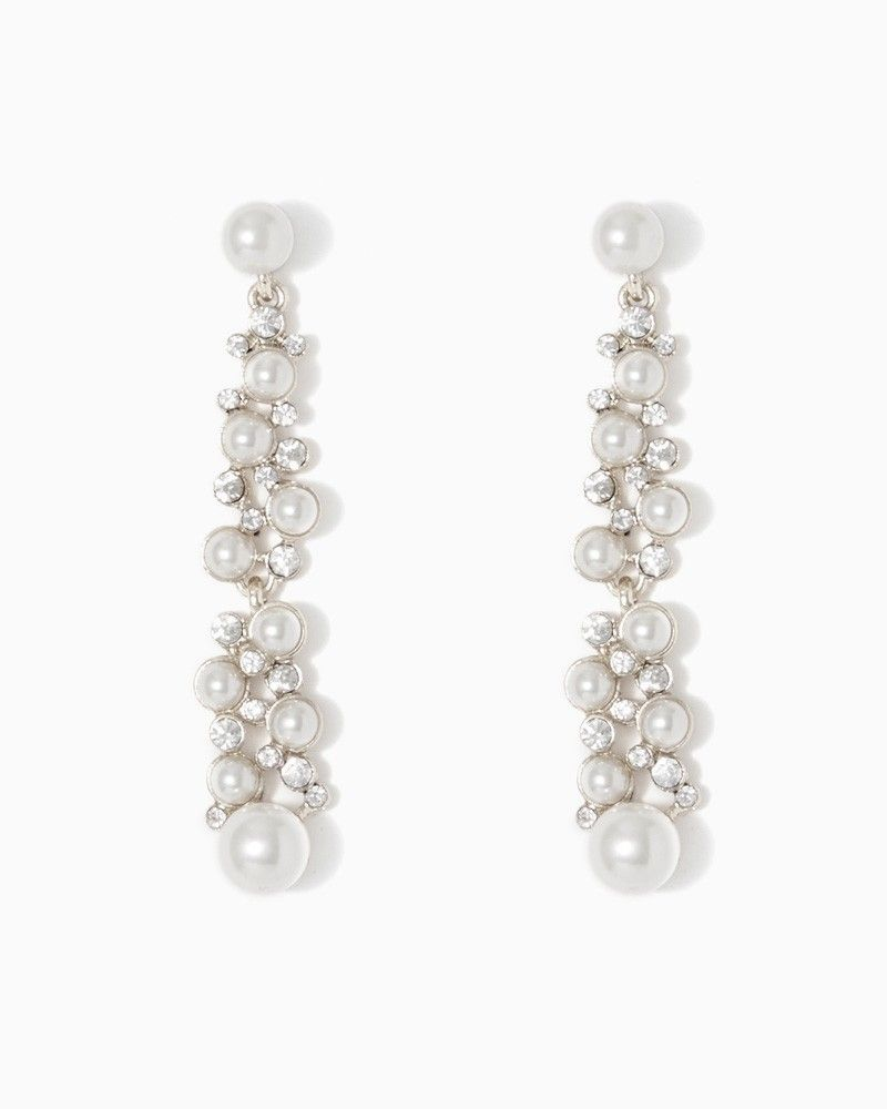 charming charlie Pearl and Sparkle Dangle Earrings UPC