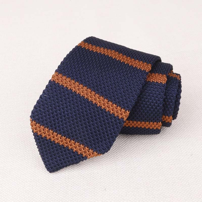 New Brand Wedding Suits Knitted Ties For Men Striped Solid