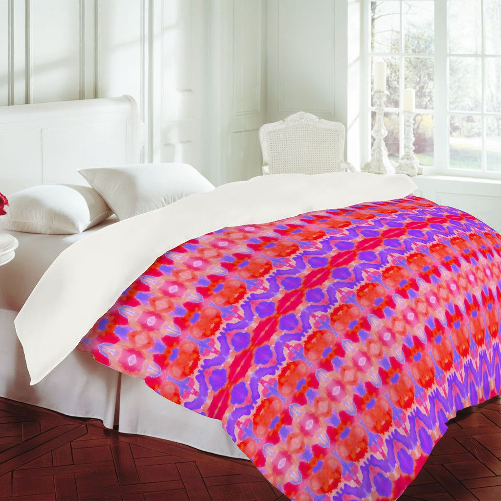 Amy Sia Watercolor Ikat 3 Duvet Cover Pattern