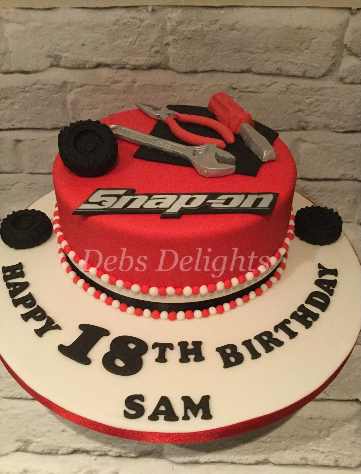 Snap on themed tool cake   Cakes in 2019   Cake, Tool cake, 50th ...