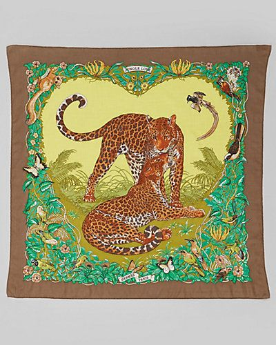 "Some of you have to get in on this: Hermes ""Jungle Love"" by Robert Dallet Cotton Scarf"