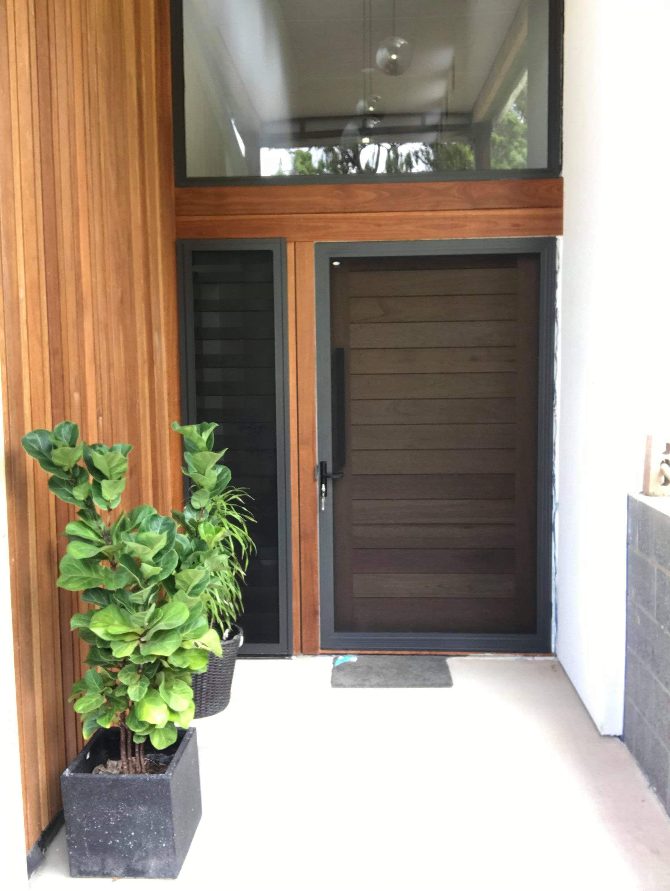 Hinged Regular Crimsafe Screen Door In Monument Colour Security Screen Door Screen Door Doors