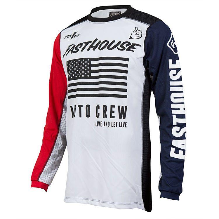 e8c647a10e3a7 Fasthouse USA Air White/Blue/Red Jersey | Moto | Motocross ...