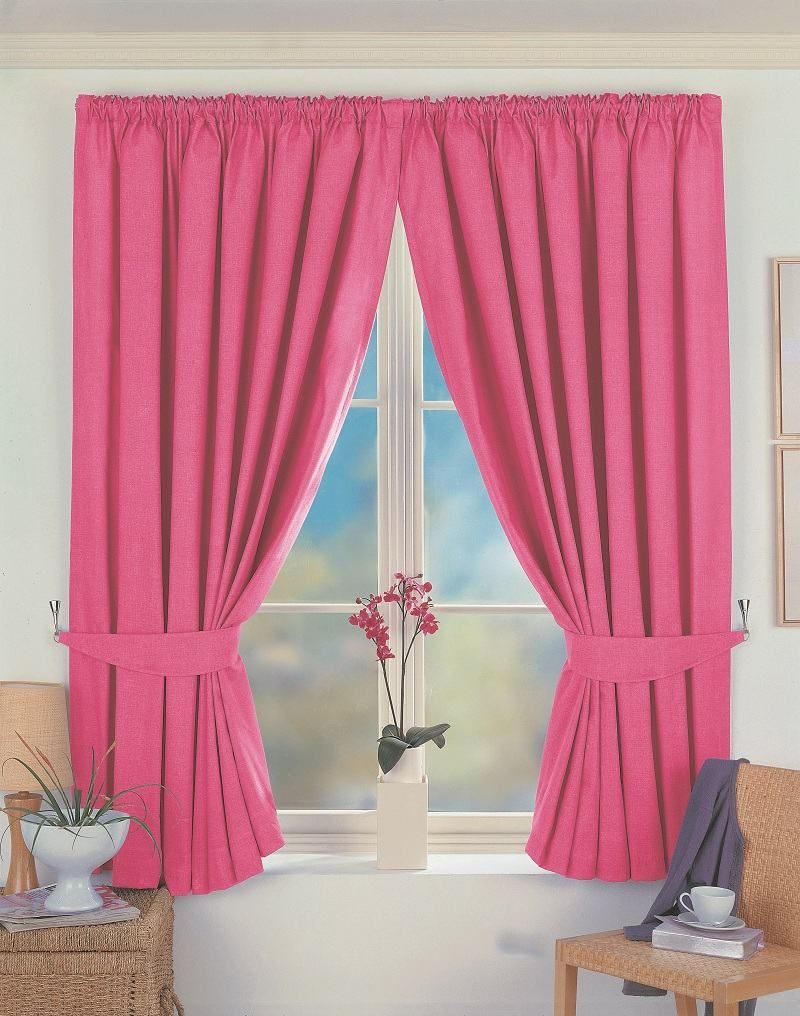 10+ Stunning Pink Curtains For Living Room