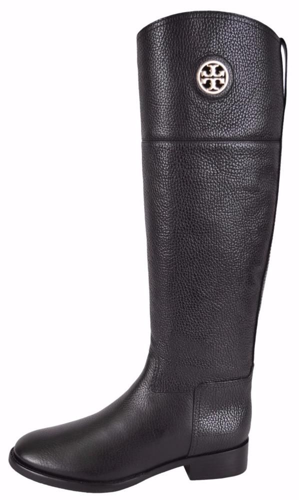 6b8b79e6743fbf NEW Tory Burch Black Tumbled Leather Junction Tall Riding Boots Shoes SZ 6   ToryBurch  RidingEquestrian