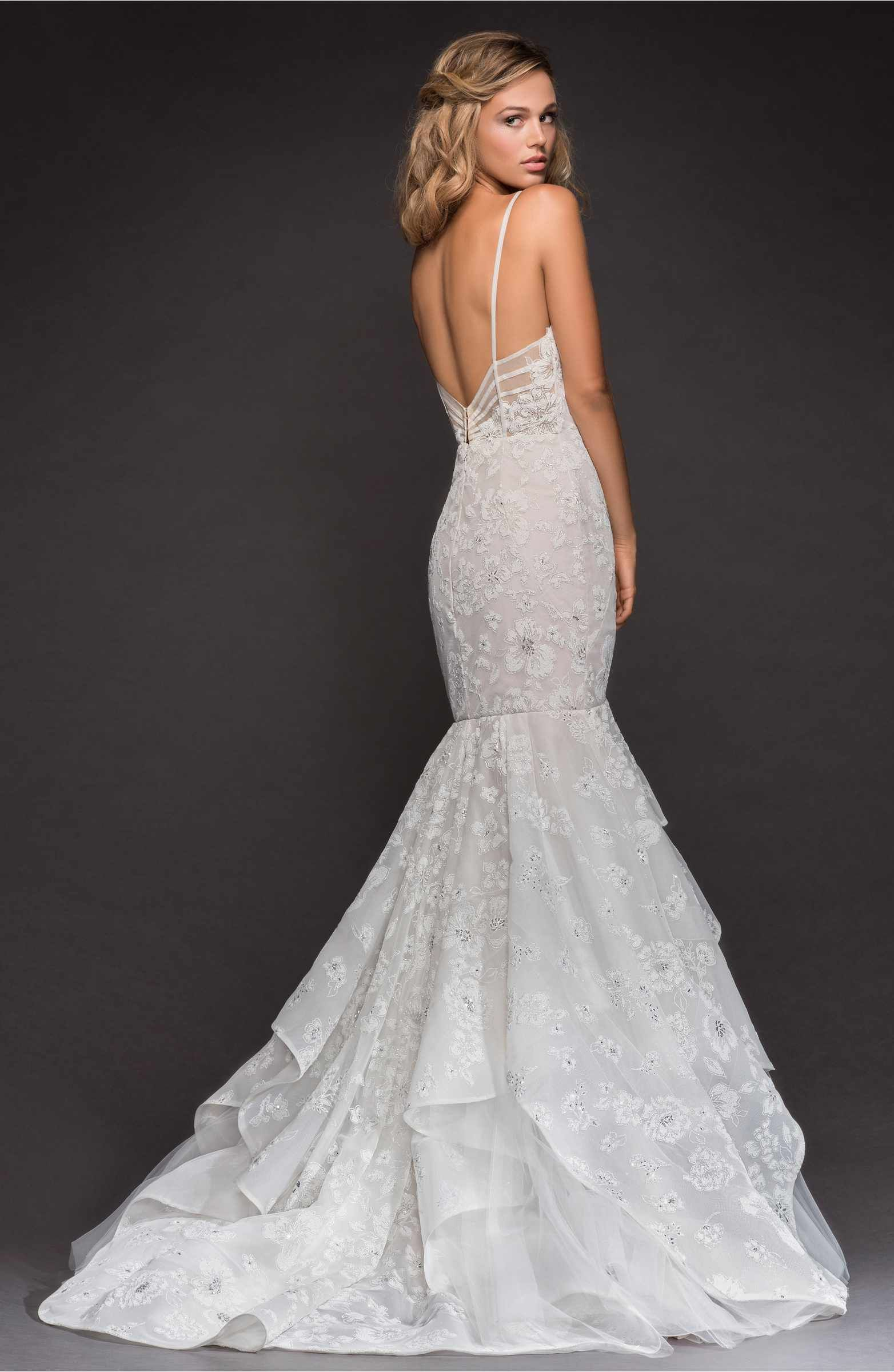 Hayley Paige Ronnie Embellished Mermaid Gown in 2020