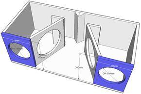 Projeto Para Medios Graves Com 2 Alto Falantes De 10 Polegadas E 2
