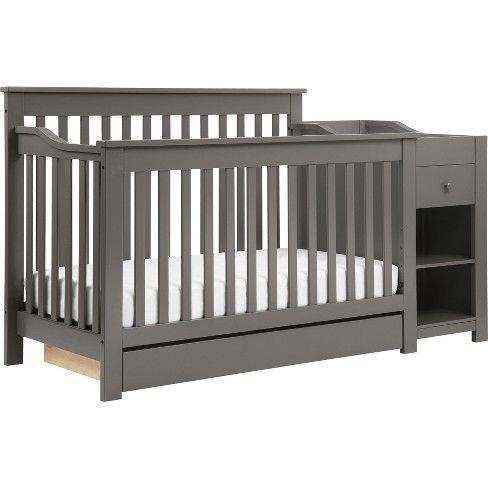 Davinci Piedmont 4 In 1 Crib And Changer Combo Slate Crib And Changing Table Combo 4 In 1 Crib Cribs
