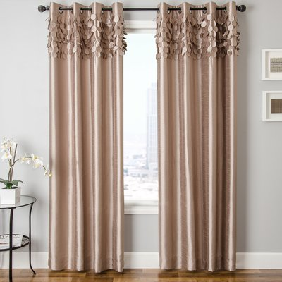 Zipcode Design Lainey Grommet Single Curtain Panel Size 55 W X