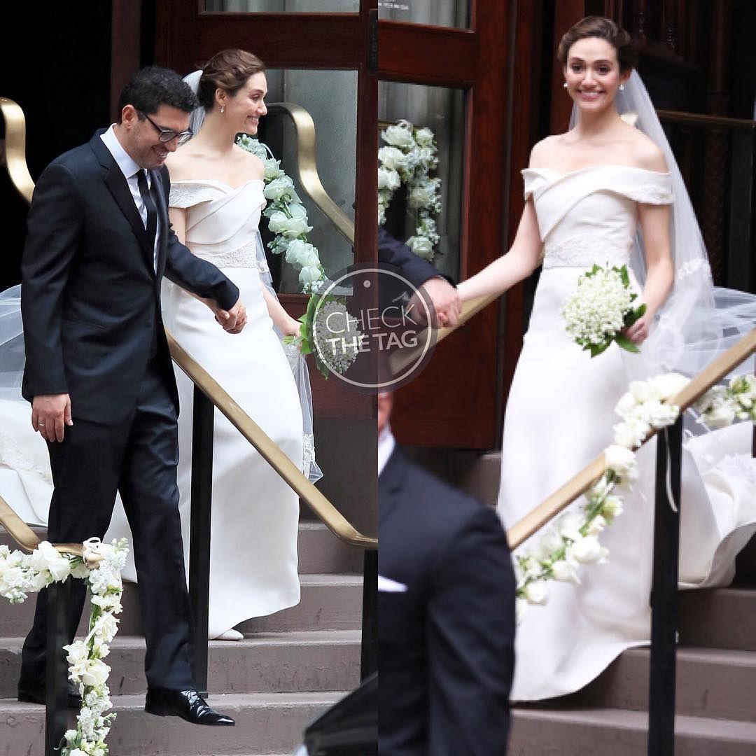 Emmy Rossum Wedding: Who: Emmy Rossum Wearing: Carolina Herrera Where: At The