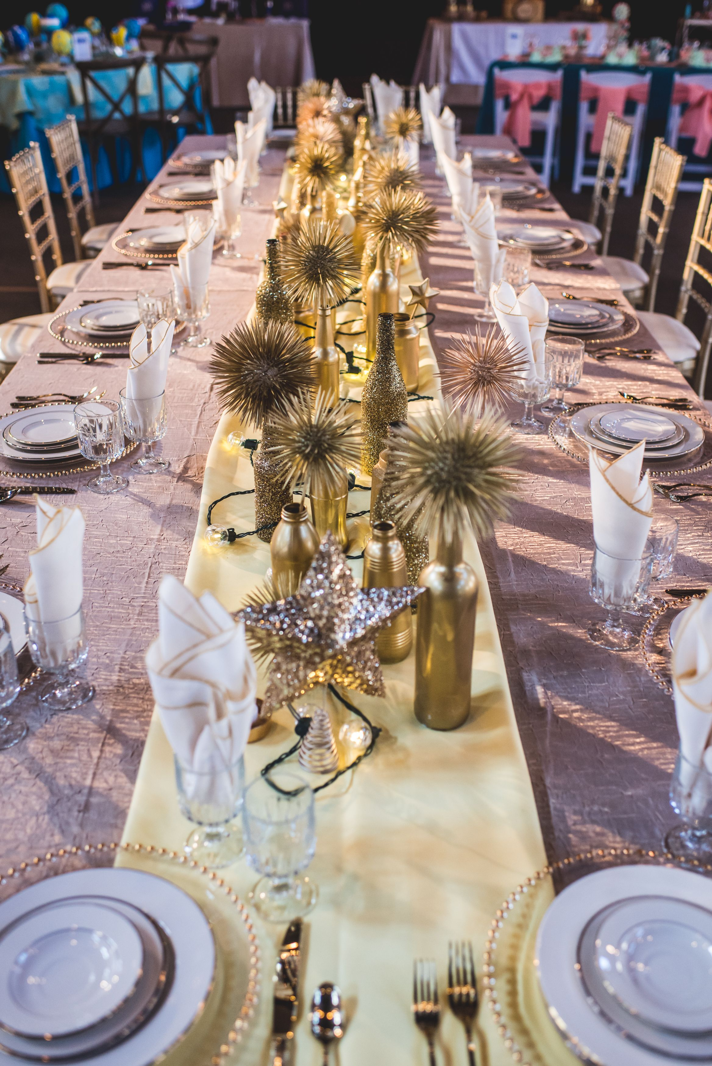 Gorgeous Gold Kings Table At Happy Days For A Nuptial Soiree Hosted - Kings table catering