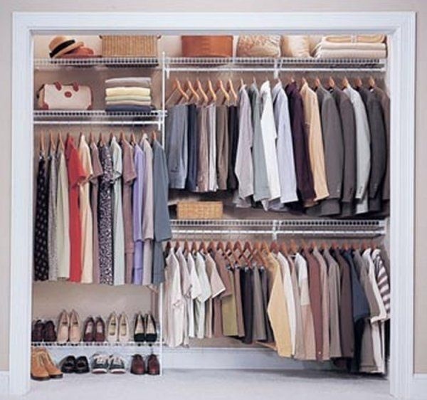 Remove Closet Doors And Make Closet Space More Efficient