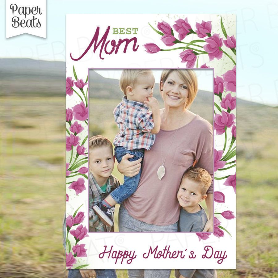 Happy Mothers Day Frame - Photo Booth Frame - Tulips Photo Booth ...