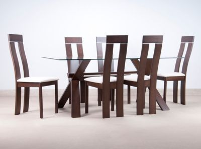 Juego de comedor clear 6 sillas attimo comedores for Juego de comedor 6 sillas