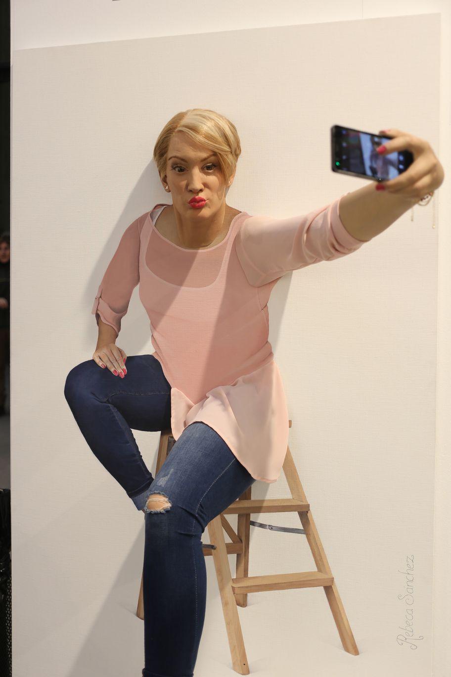 Selfie Paint Sculptures Rebeca Sánchez Art Madrid
