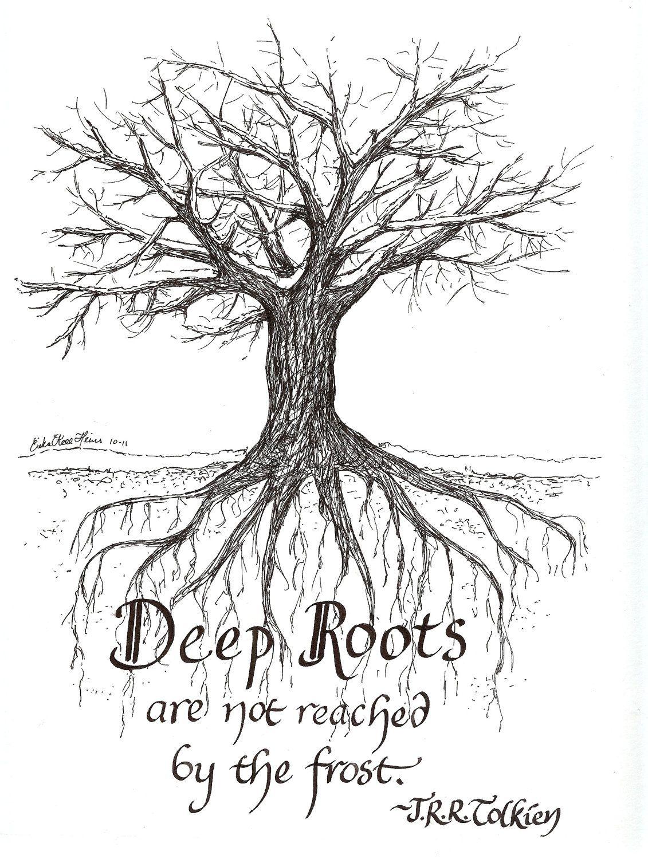 deep roots framed original