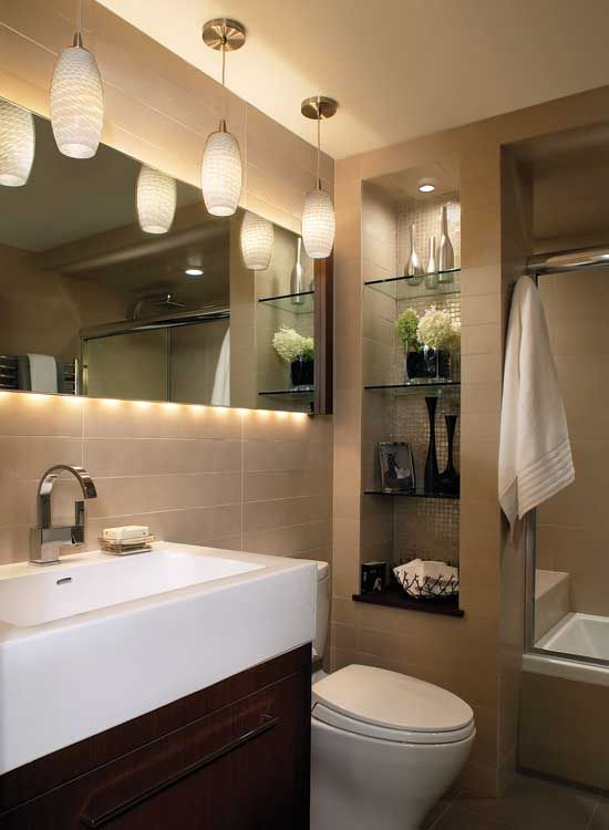 like the lighting and sink | Downstairs Powder Room | Pinterest ...