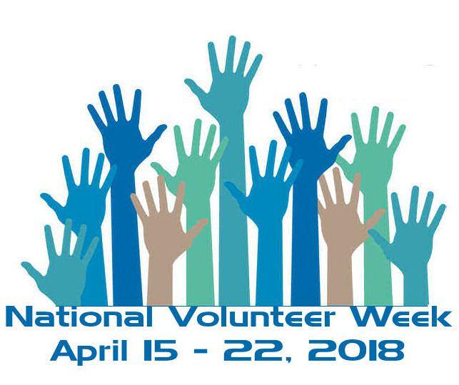 National Volunteer Week, April 15   22, 2018 | Celebrate | Pinterest