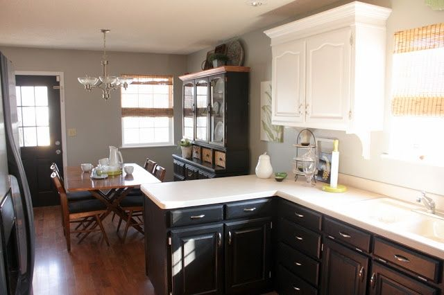 Different Color Top And Bottom Kitchen Cabinets | Sweet Something Designs: Kitchen  Facelift {Phase