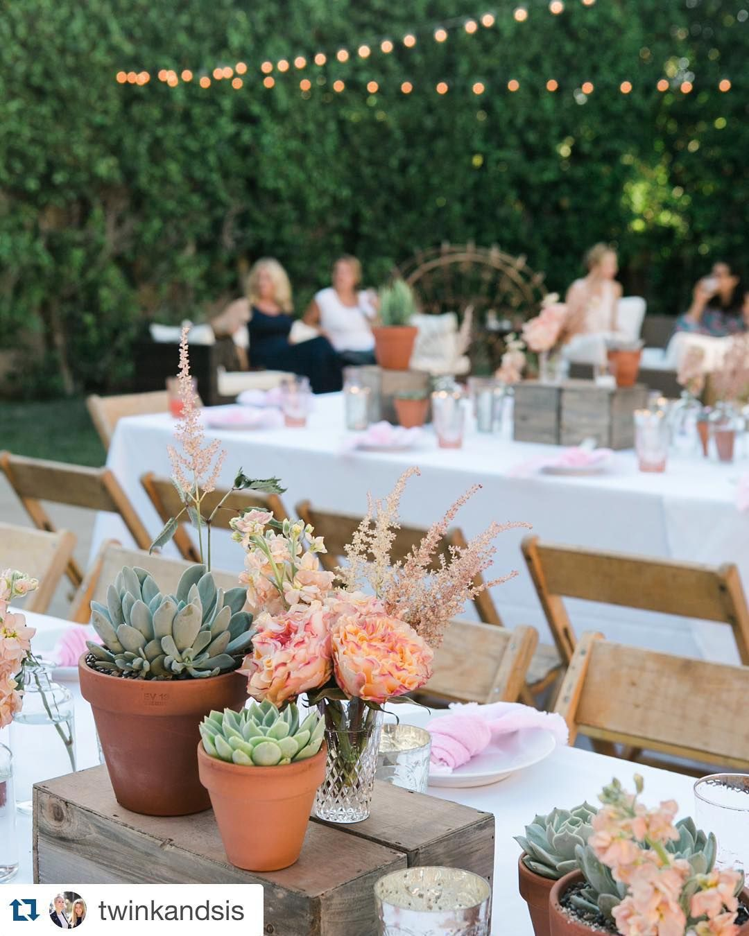 Garden event decor  Thank you to twinkandsis for this feature in this gorgeous event