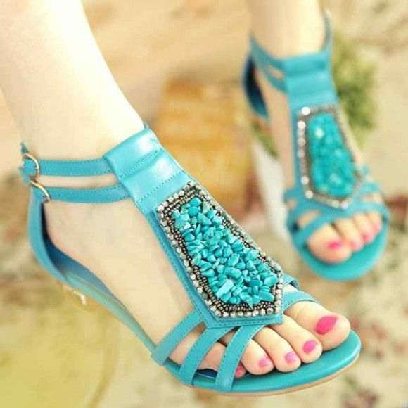 17ab359cd9d44 New Fashion Party Wear Flat Sandals-Chappal & Shoes Design for Girls-Womens-