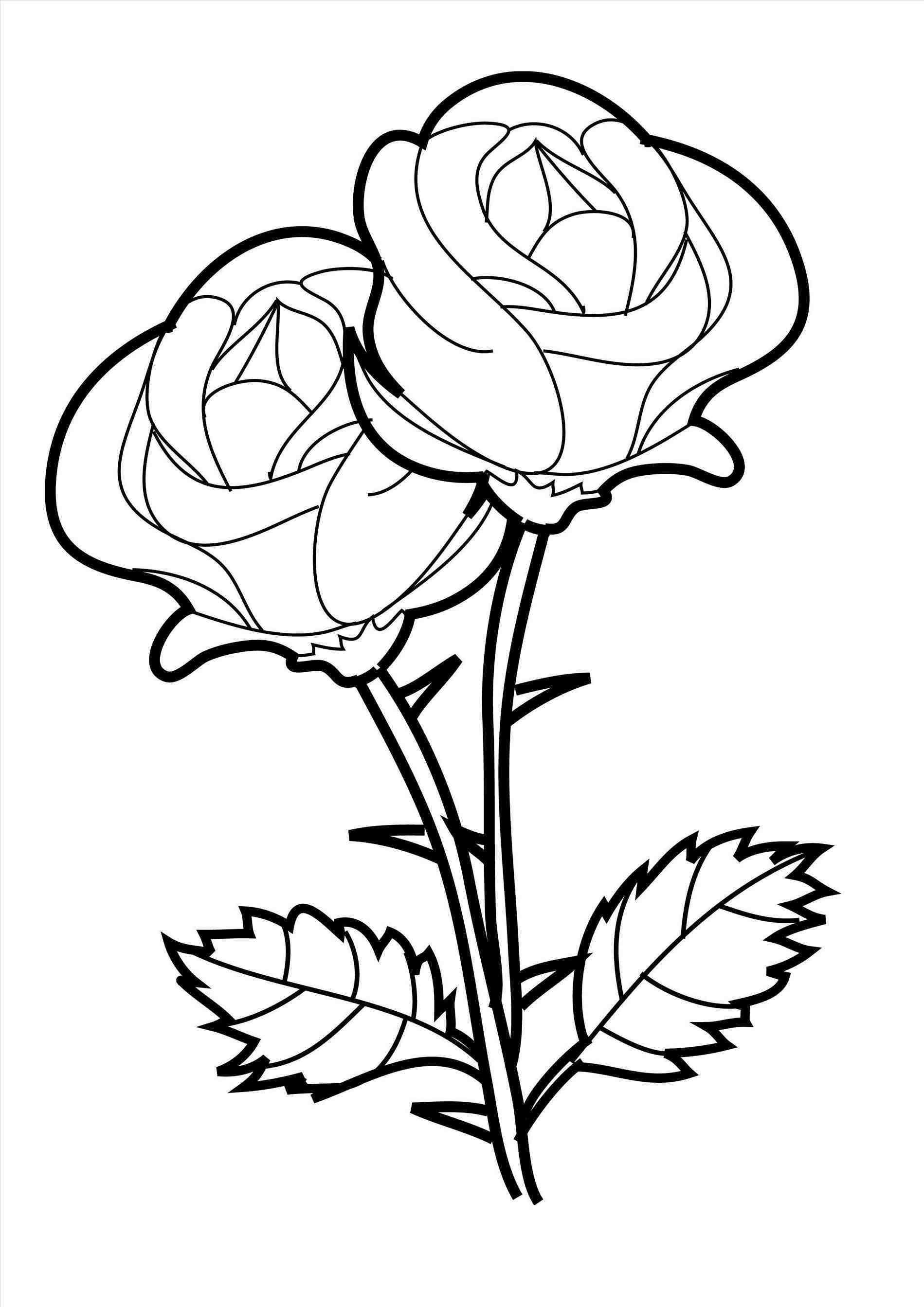 Flower Drawings For Kids Rose Coloring Pages Flower Coloring