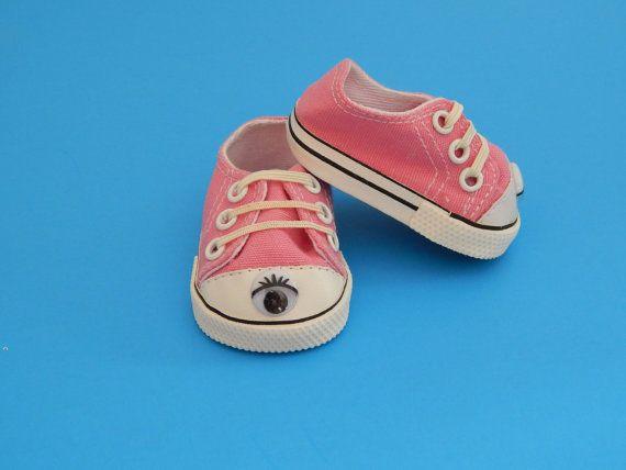 American Girl and 18 inch Doll Pink Sneakers by Emmasdollshop, $7.00