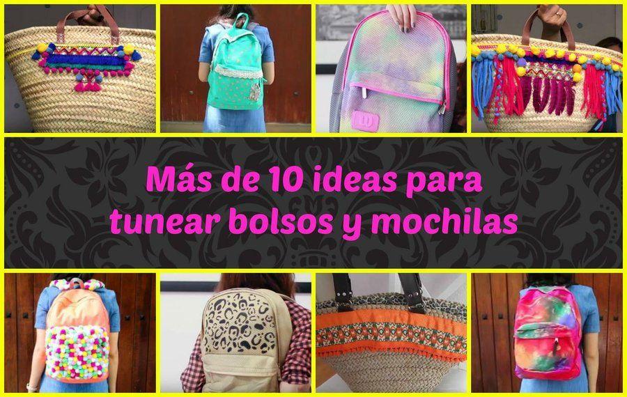 Más de 10 ideas para tunear bolsos y mochilas   Manualidades