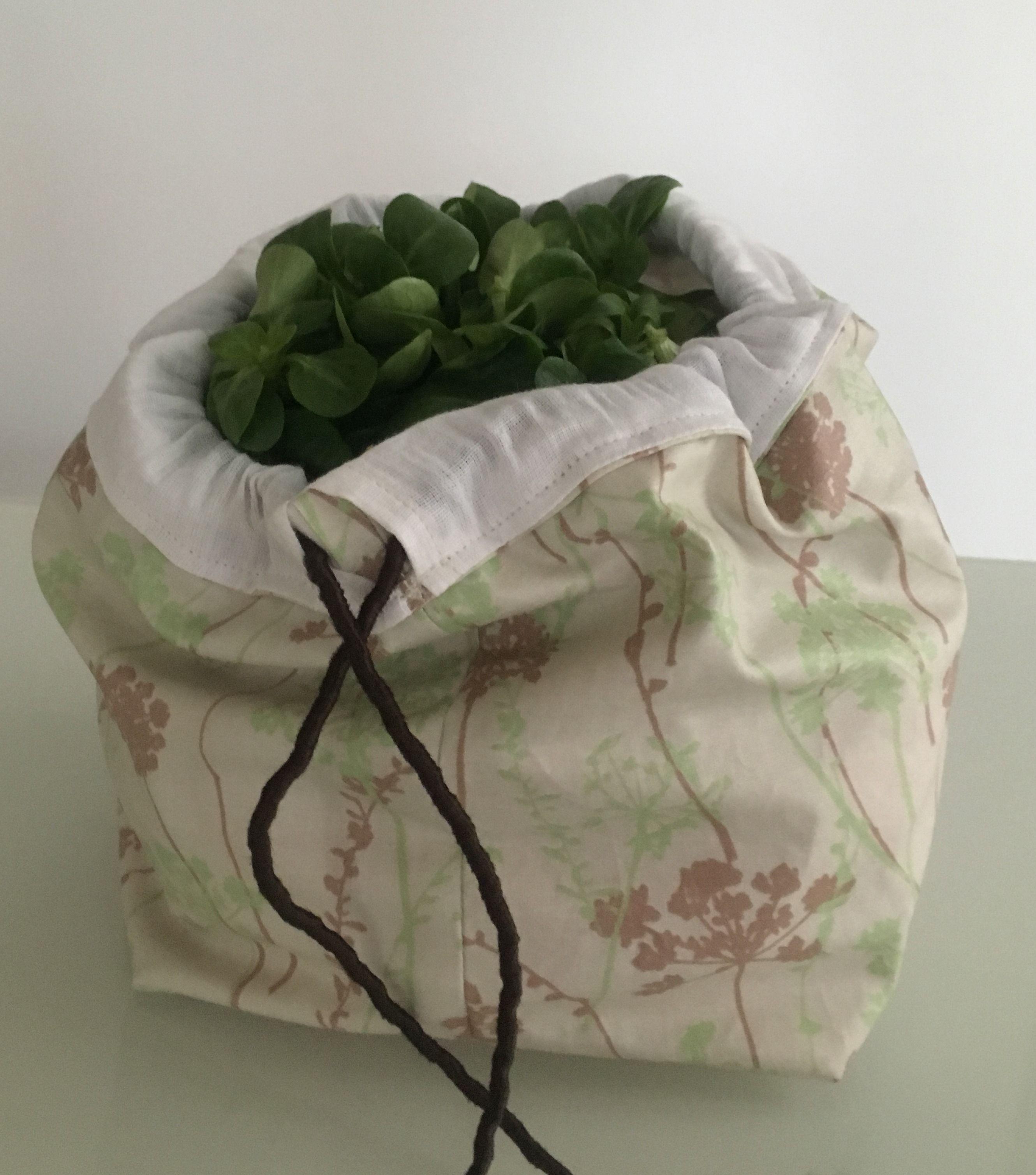 Sac à salade à faire soi même | couture | Sac plastique, Sac