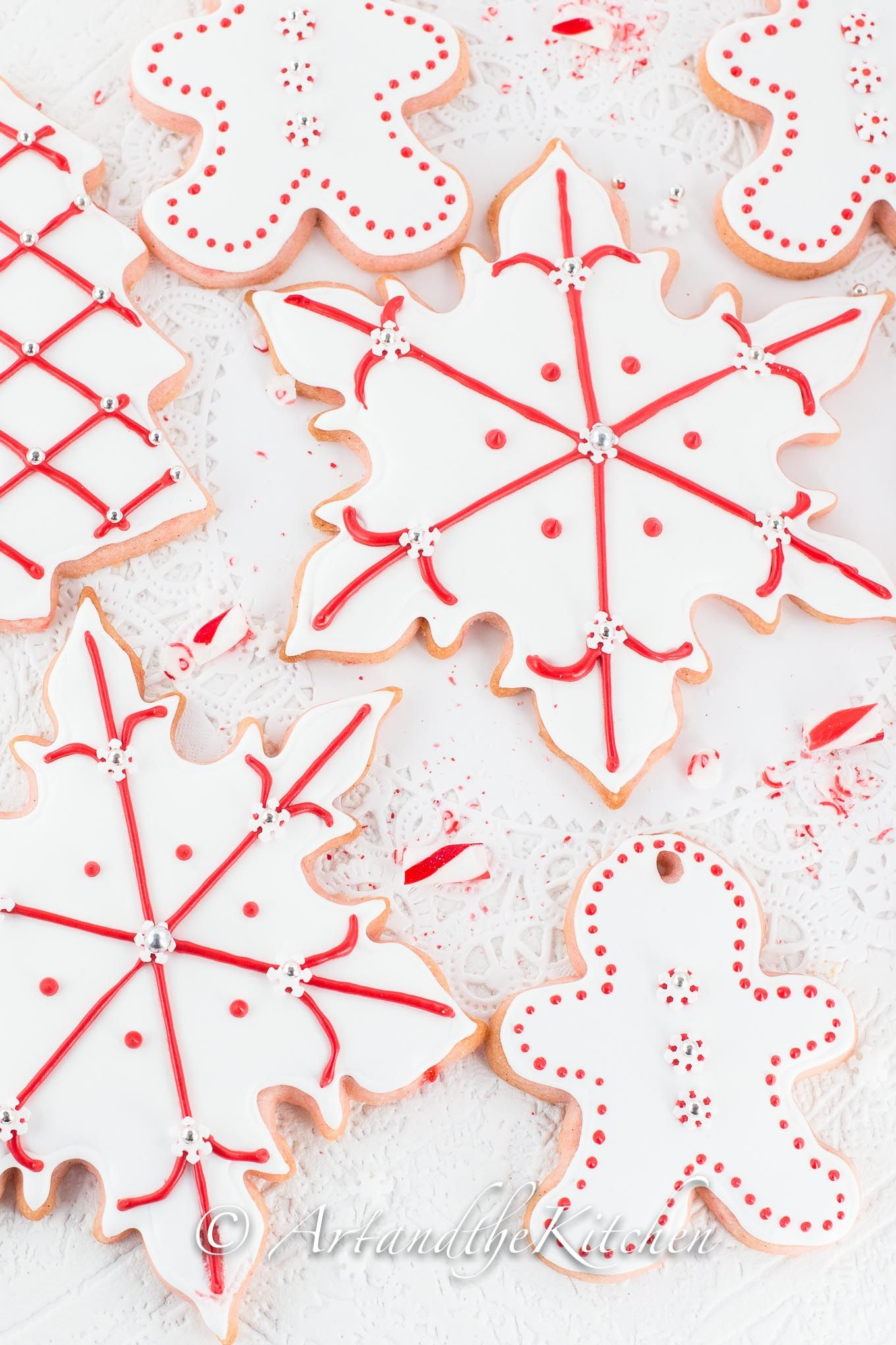This recipe for scrumptious Candy Cane Sugar Cookies is the perfect recipe for making decorative cut out cookies. It is also incredibly delicious with great candy cane flavour!