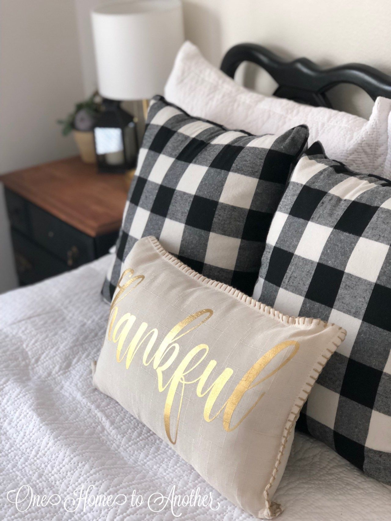 Adding buffalo check to my guest room guest room