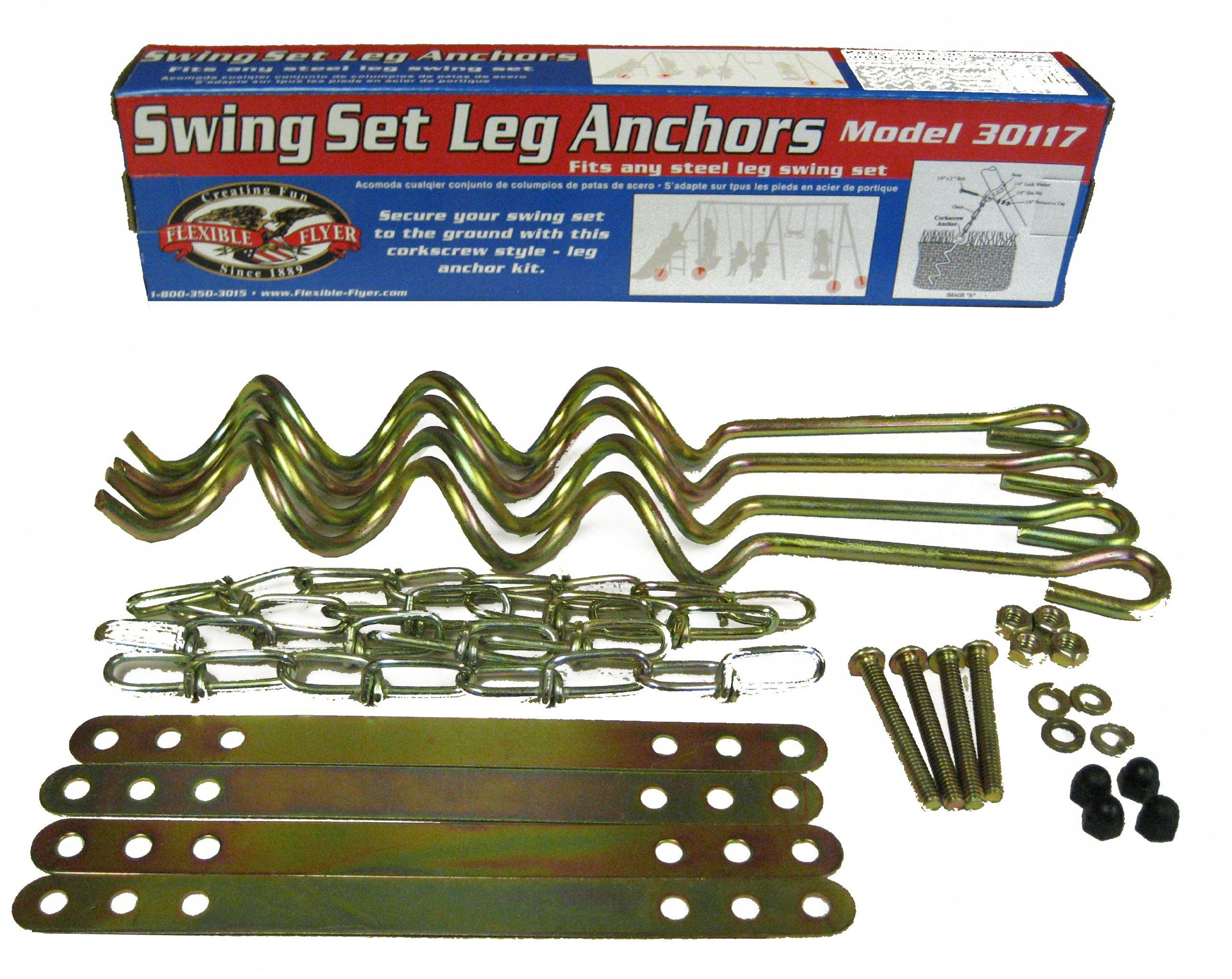 Flexible Flyer Ground Anchor Kit For Metal Frame Swing Sets Anchor