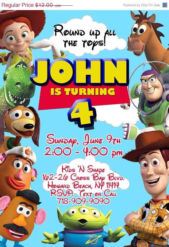 Toy Story Birthday Invitation On Etsy 10 00 Invites Party