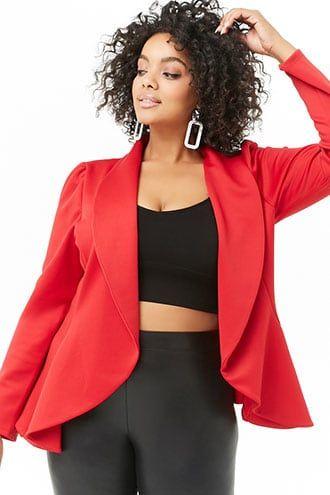 ac7cc2f65b609 Plus Size Draped Blazer in 2019 | Products | Plus size blazer, Plus ...