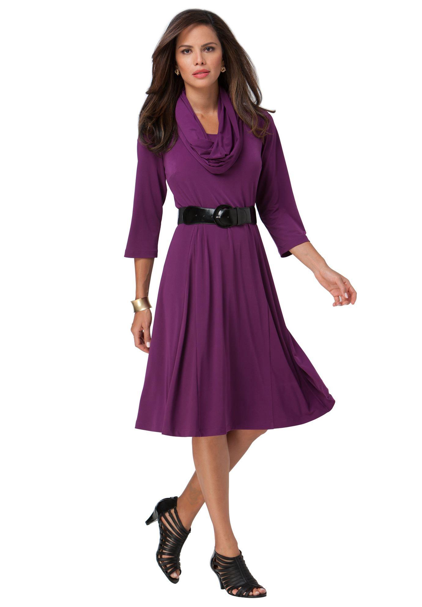Plus Size 3-pc. Scarf Dress | Fullbeauty & Avenue finds | Pinterest