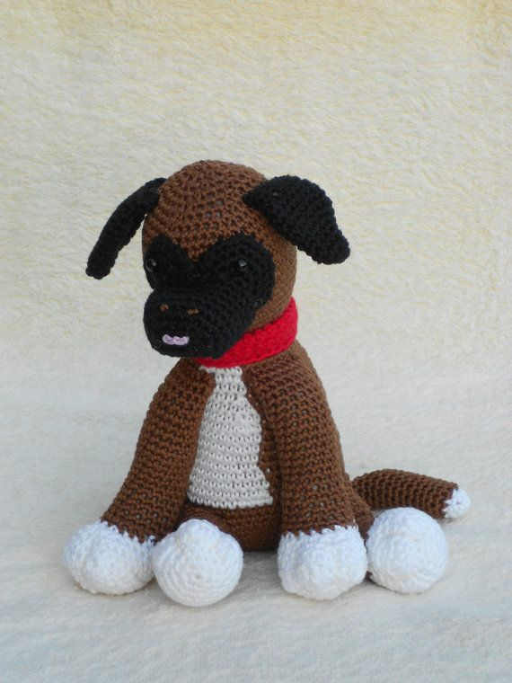 Crochet patterns Boxer puppy or Pigeons - Haakpatroon Boxer puppy of ...