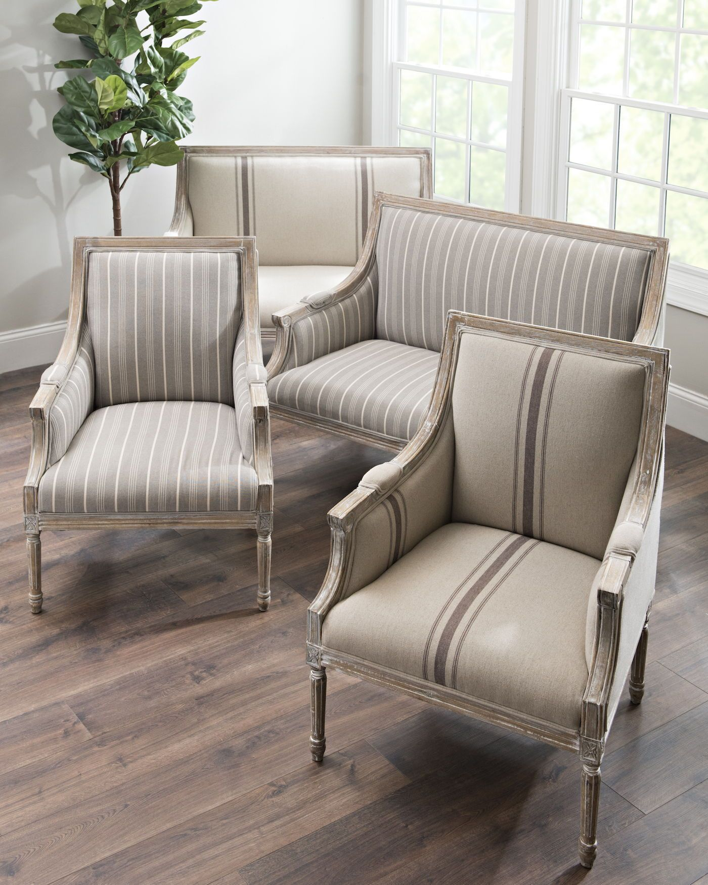 Best Mckenna Tan Stripe Accent Chair In 2020 Accent Chairs 400 x 300
