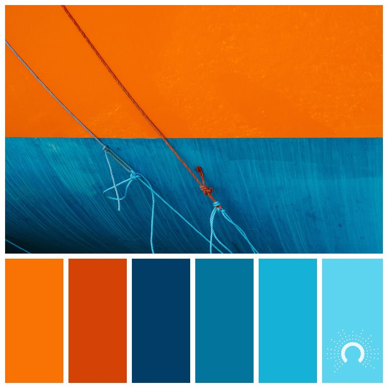 Color Palette Combination Farbpalette Hue Orange Red Blue Light Blau Rotorange
