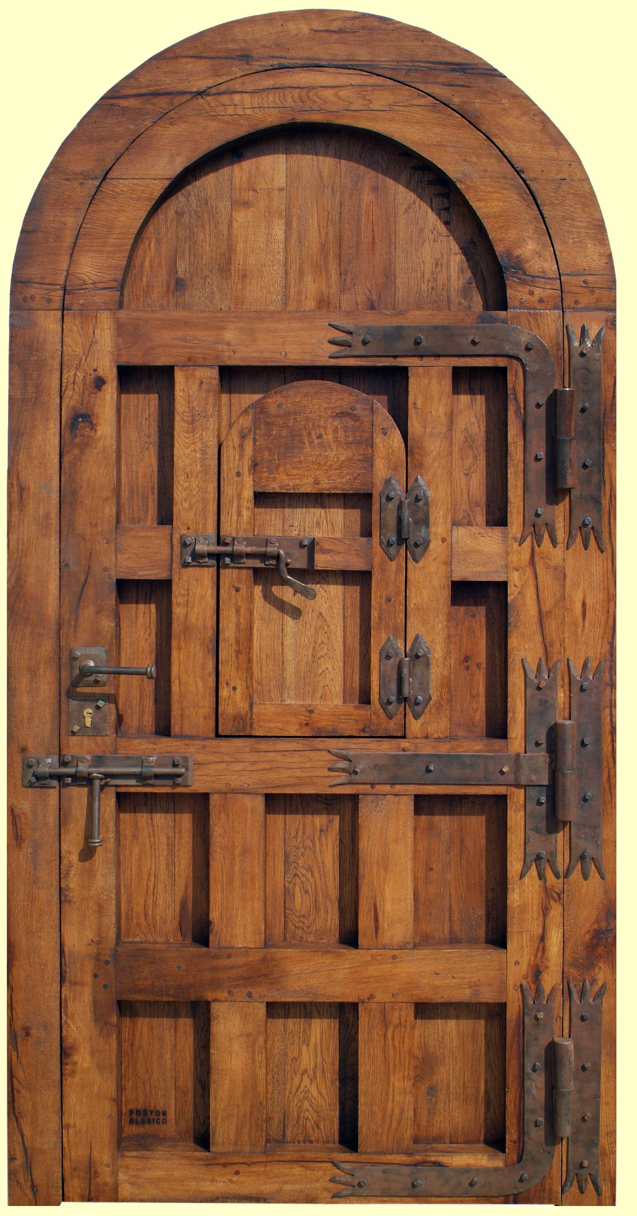 Vista trasera puerta rustica mojacar portones for Puertas y portones de madera