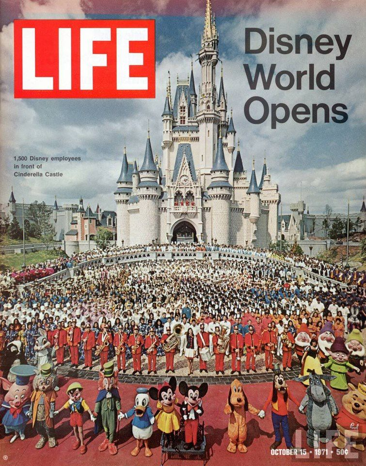Disney World Opens - We went to Disney World just as soon as it opened.  I still have a booklet of tickets with the coveted E tickets.  :)