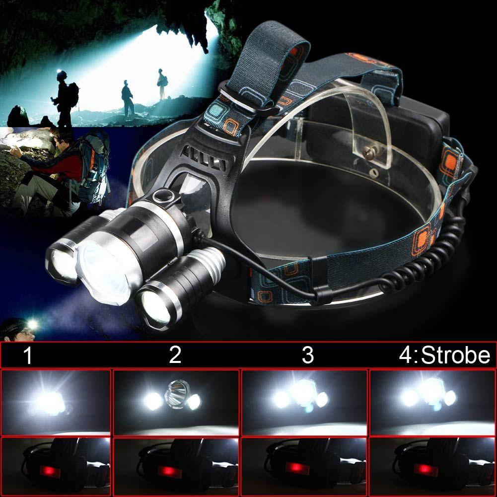 Super Bright 6000 Lumen Cree Xm L T6 2r5 Led Headlamp Headlight