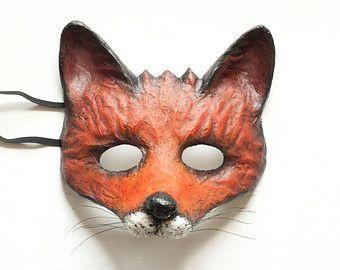 Popular Items For Papier Mache On Etsy Fox Mask Animal Masks