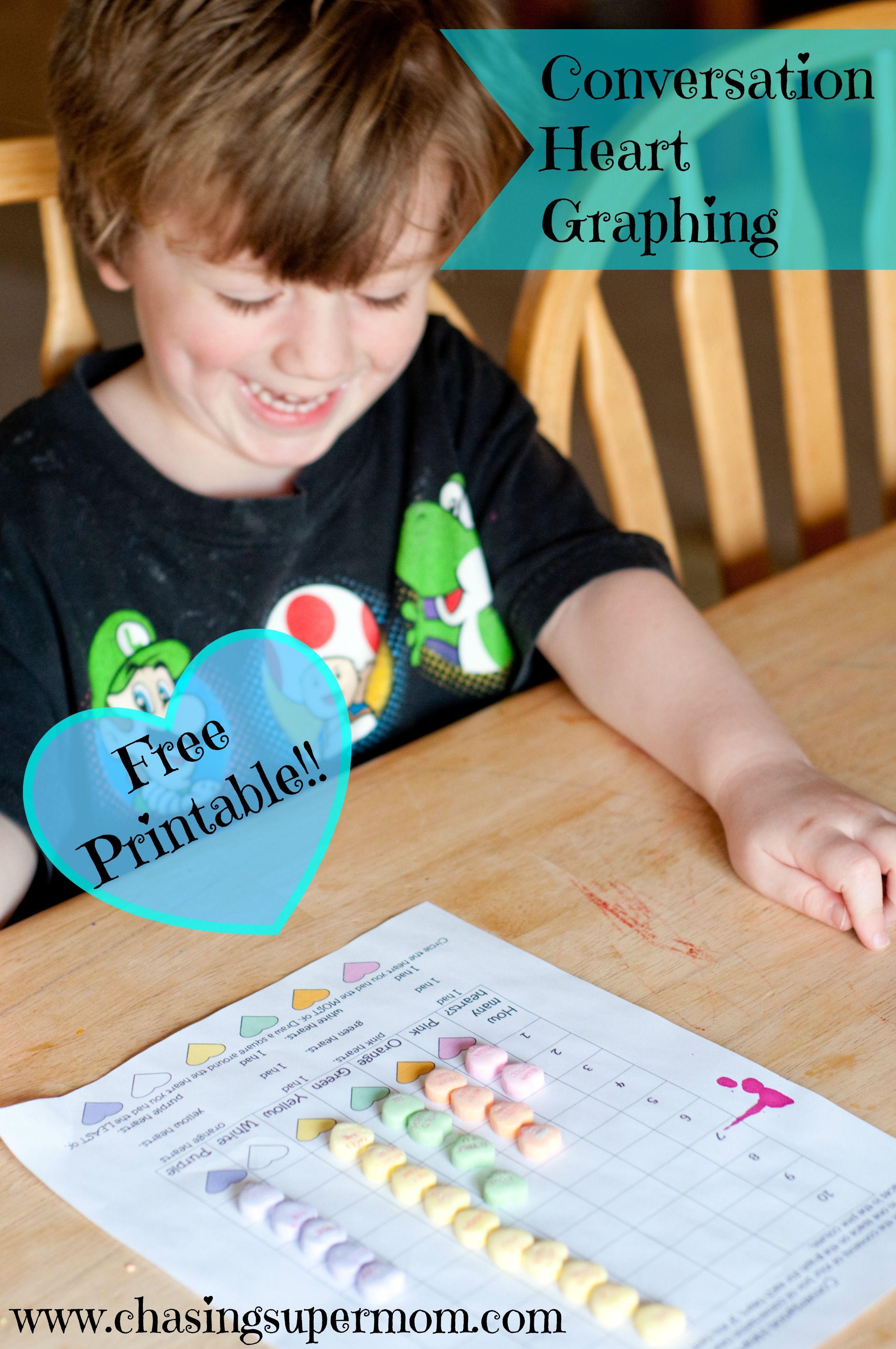 Conversation Hearts Graphing Worksheet Free Valentine S