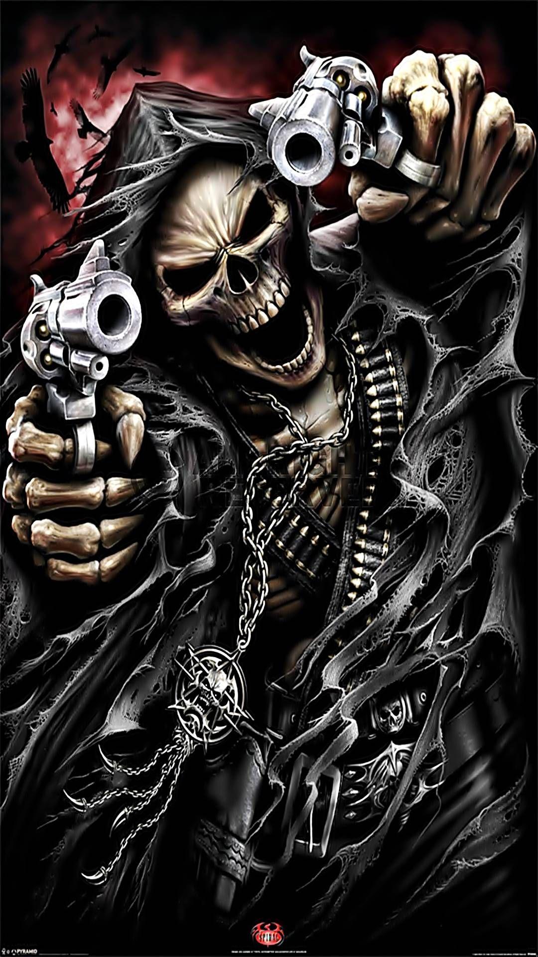 Skull Mobile Hd Wallpaper Skull Wallpaper Ghost Rider Wallpaper Grim Reaper Art