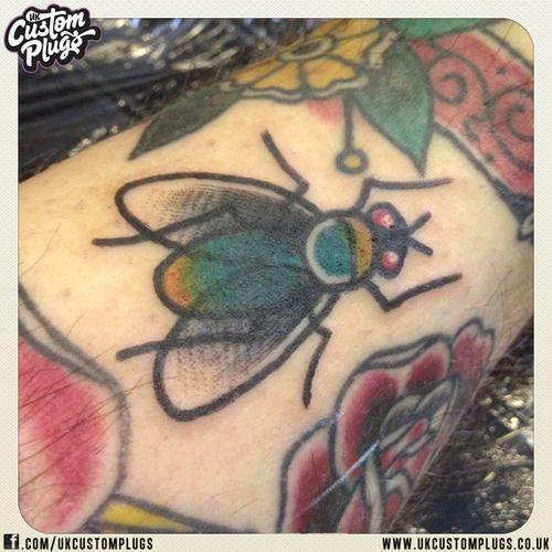 Fly Gap Filler Tattoo!  www.ukcustomplugs.co.uk