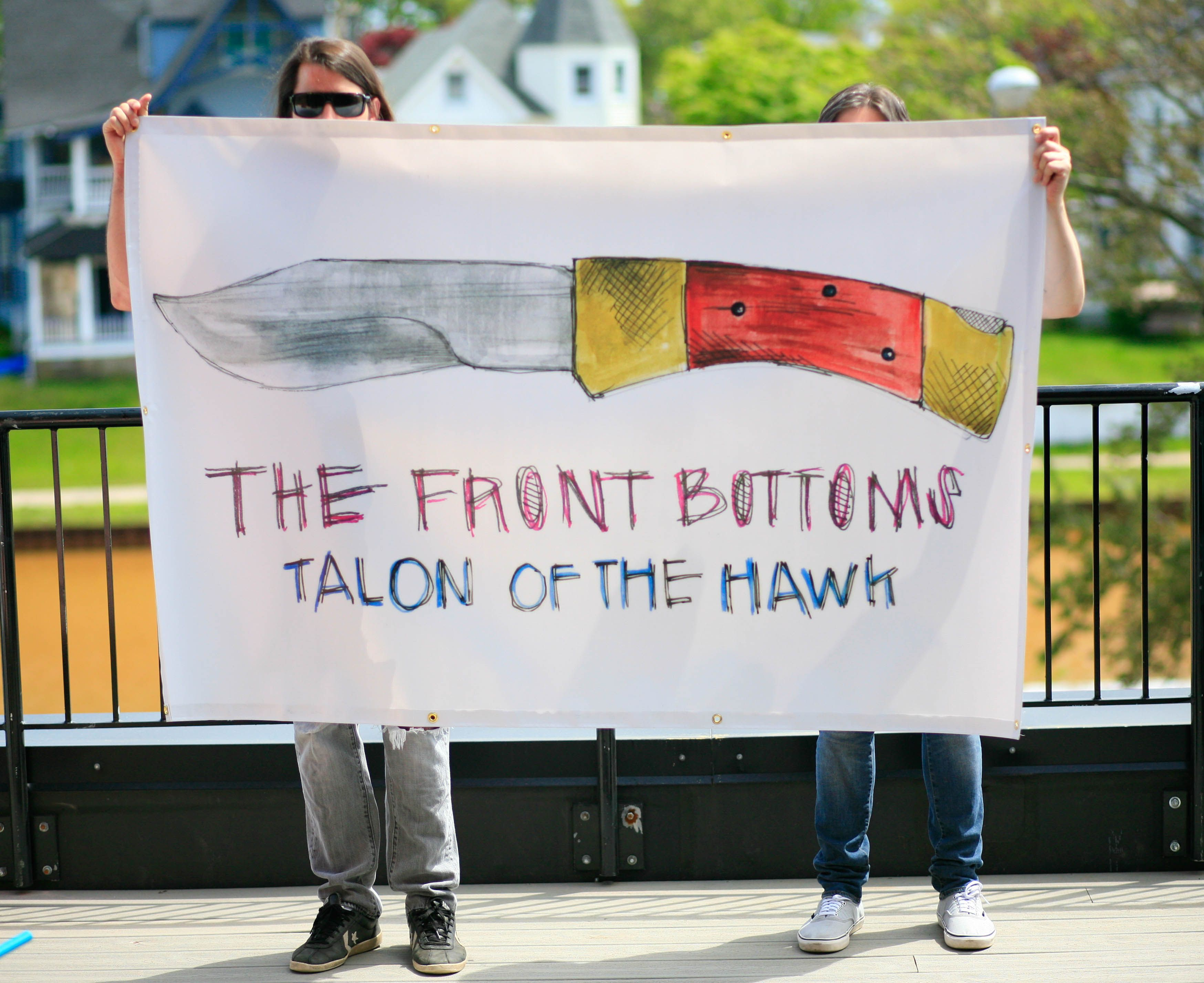 Full Color 4 X6 Vinyl Banner With Hems And Grommets Band The Front Bottoms Vinyl Banners Front Bottoms Vinyl