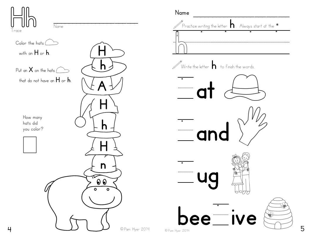 Alphabet Activities Learning My Letters Hh Kindergartenklub